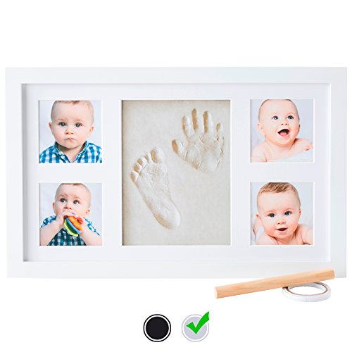 Baby Handprint Kit by Little Hippo – DELUXE SIZE + NO MOLD! Baby ...