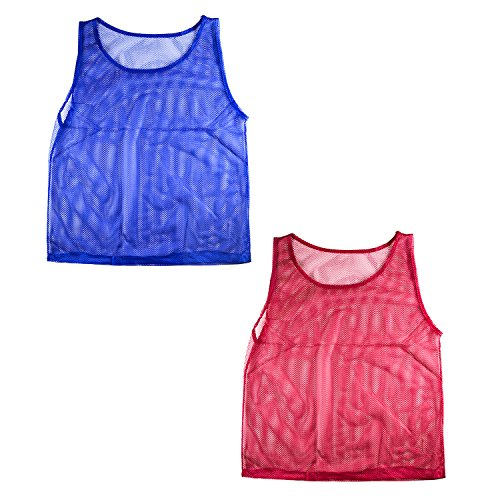 1c9a4b7fd Nylon Mesh Scrimmage Team Practice Vests Pinnies Jerseys for Children Youth  Sports Basketball, Soccer, Football, Volleyball (12 Jerseys)