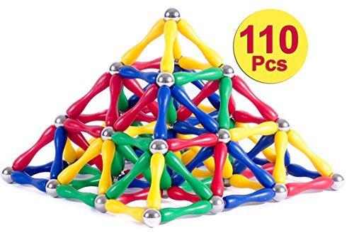Magnetic Building Blocks By Magnetic Toys: Pack Of 110