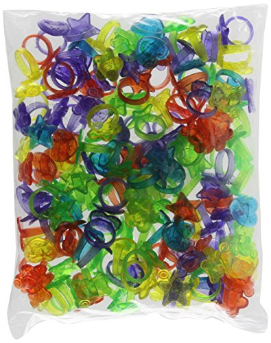 Rhode Island Novelty 144 Plastic Glitter Rings (Assorted Colors and Designs)(Discontinued by manufacturer)
