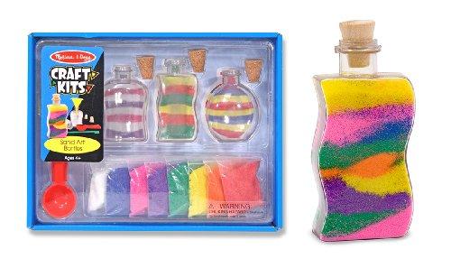 Melissa Doug Sand Art Bottles Craft Kit 3 6 Bags Of Colored Design Tool