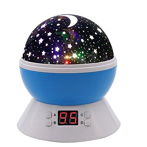 mokoqi modern rotating moon sky projection led night lights toys