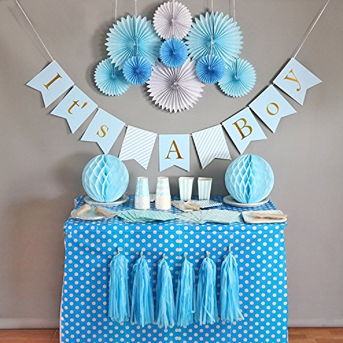 Baby Shower Decorations For Boy Its A Boy Banner Tissue Paper
