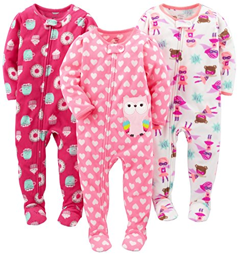 cbc18900c Simple Joys by Carter s Baby Girls  3-Pack Flame Resistant Fleece ...