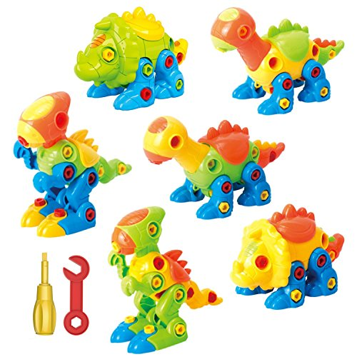 Toys For Girls Age 3 Years : Dinosaur toys take apart with tools pack of
