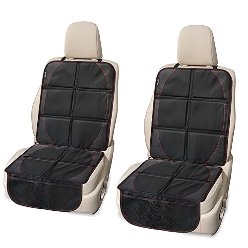 Car Seat Protector 2 Pack Waterproof With Thickest Padding For Baby