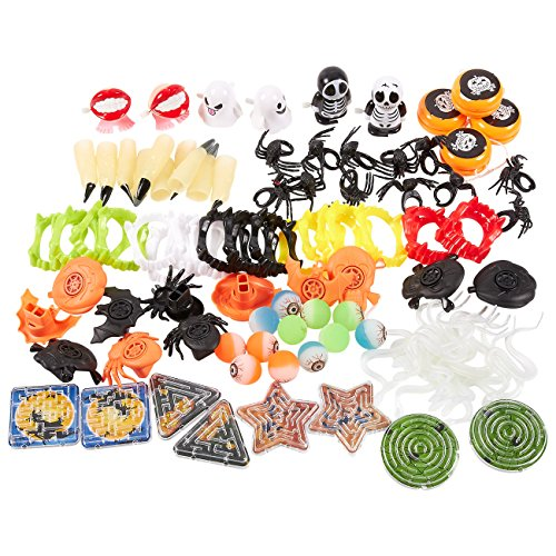 100 pack of halloween toy favors halloween gifts prizes novelty party favors halloween novelty toys