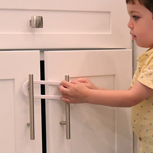 /& Doors Handles Child Safety Sliding Cabinet Locks - Baby Proof Knobs 4 Pack