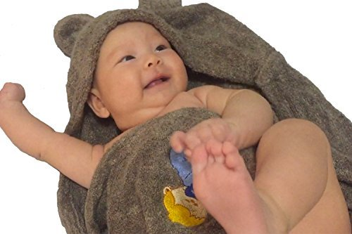 LUXURY Baby Hooded Towels – Organic Bamboo Baby Bath Towels – Takes ...
