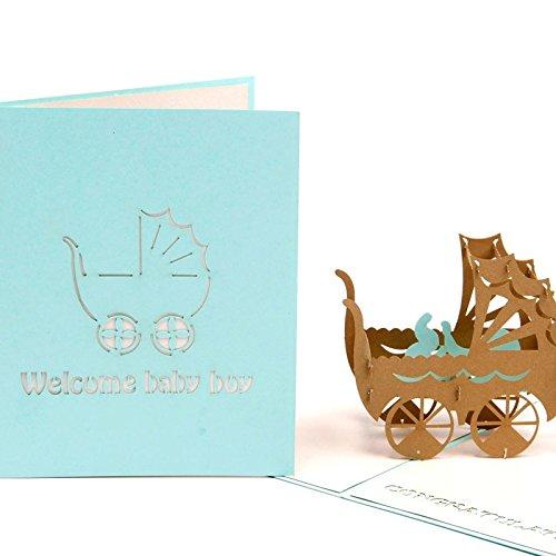 Hunger Handmade 3d Pop Up Congrats Greeting Cards For Newborn Babies