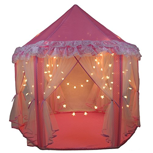 SkyeyArc Princess Castle Play Tent With 34 Feet 100 Led Star Lights String Pink Tent Princess Playhouse With Lace Kids Tents Castle Playhouse ...  sc 1 st  FrumCare.com & SkyeyArc Princess Castle Play Tent With 34 Feet 100 Led Star ...