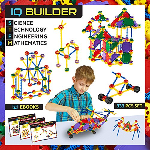 Construction Toys For Boys : Iq builder stem learning toys creative construction