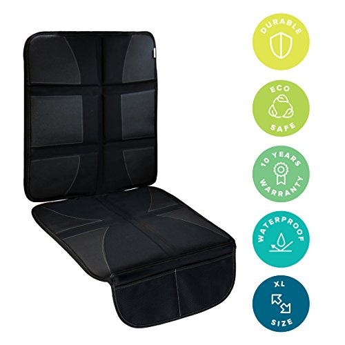 Car Seat Protector With Thickest Padding Featuring XL Size Best Coverage Available Durable Waterproof 600D Fabric PVC Leather Reinforced Corners 2