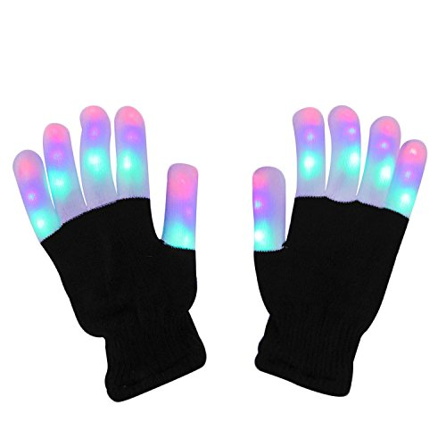 gloves finger light gloves novelty toys kids 6 adjust modes for lightshow edm camping disco wedding party halloween christmas birthday gifts