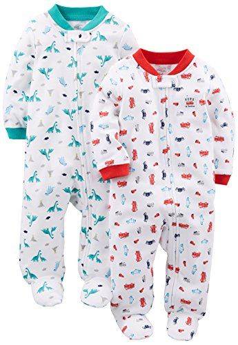 Simple Joys by Carters Baby Boys 2-Pack Cotton Snap Footed Sleep and Play