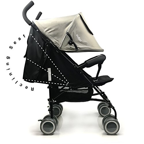 evezo travis reclining lightweight stroller with 5 point harness