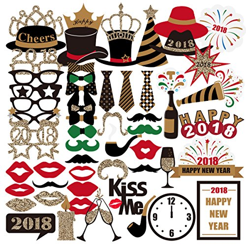 Pbpbox New Years Eve Photo Booth Props 2018 For New Years Eve Party