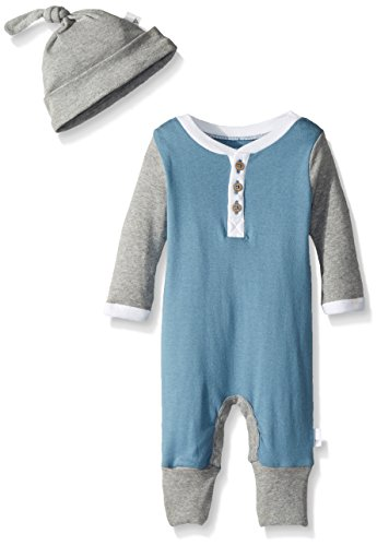 fcd562d64ef Burt's Bees Baby Baby Organic Coverall, Atlantic Henley, 3-6 Months ...