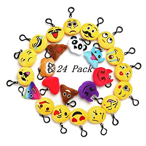 Emoji Mini Plush Pillows For Party Decorations 2 Keychain Cushion