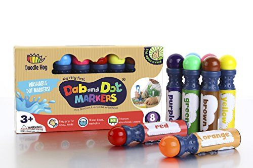 Non Toxic Washable Best Dab And Dot Markers 8 Colors Pack Set