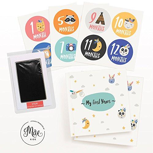 mae kids first years baby memory book 12 baby milestone sticker