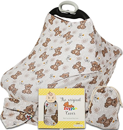 Bear Nursing Baby Car Seat Canopy Stroller Cover Scarf for toddler