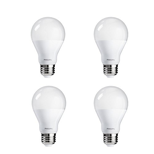Philips LED Non-Dimmable A19 Frosted Light Bulb: 1500-Lumen