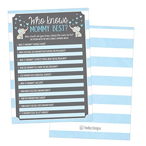 25 blue elephant baby shower games ideas for boys fun party 25 blue elephant baby shower games ideas for boys fun party activities who knows mommy best gender neutral reveal parent guessing funny questions bundle m4hsunfo