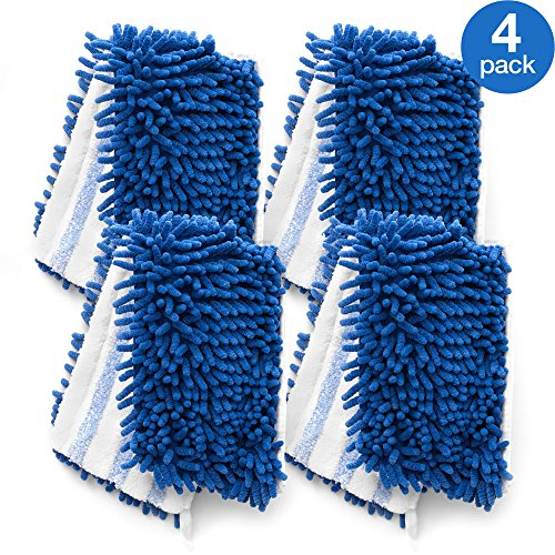 O Cedar Dual Action Microfiber Flip Mop Refill Pack Of 4