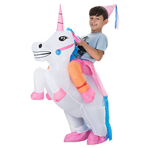 660ffcbc5b7e0 TOLOCO Inflatable Unicorn Rider Costume | Inflatable Costumes For Adults Or  Child | Halloween Costume | Blow Up Costume (Child Unicorn)