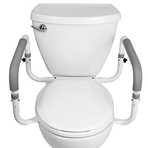 Outstanding Toilet Safety Frame By Vive Adjustable Compact Support Inzonedesignstudio Interior Chair Design Inzonedesignstudiocom