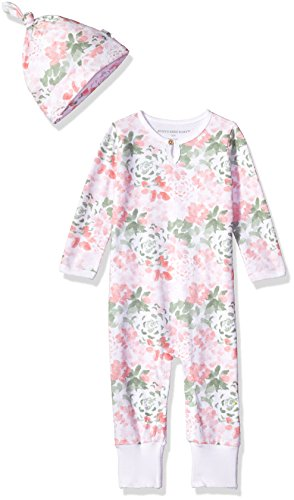 Burts Bees Baby Clothes Enchanting Burt's Bees Baby Baby Organic Coverall Succulent Flowers Ruffle