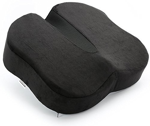 Sleekform Orthopedic Coccyx Seat Cushion Relief From Sciatica Tailbone Back Pain 100 Memory Foam Anti Slip Top Pad For Healthy Seating In Cars