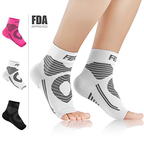 c54a183755 Featol Plantar Fasciitis Socks(1 PAIR) with Arch Support Ankle Support for  Men and Women, Ankle Compression Socks Foot Sleeve to Relieve Arch Pain, ...