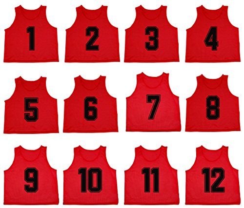 timeless design 48dc3 0d772 Oso Athletics Set of 12 Premium Mesh Numbered Scrimmage Vest ...