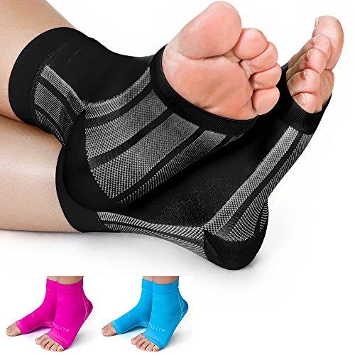 592afe3dfe Premium Compression Socks- Highest Medical Grade for Serious Pain Relief- Ankle  Brace + Plantar Fasciitis Night Splint + Achilles Tendon Support- Men/Women  ...