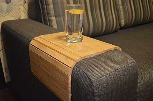 Sofa Arm Tray Table 18×12 Inches Folding Drink Holder for Round and ...