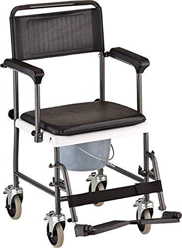 CareMax Medical Products Transport Shower Bedside Commode ...