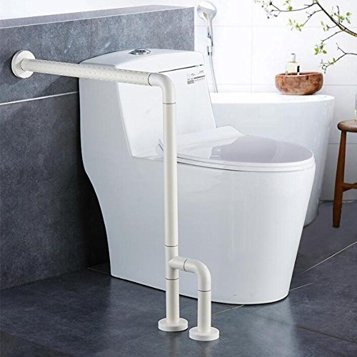 Merveilleux Bathroom Grab Bar Toilet Safety Frame Rail Shower Handicap Bars Medicial  Bathroom Aids Armrest (Stainless Steel Covered With White ABS)