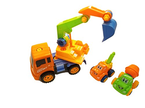 Push Toys For Toddlers : Friction powered take apart construction truck vehicle for kids