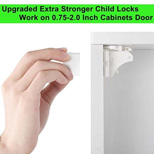 Child Safety Magnetic Cabinet Locks – Extra Stronger ...