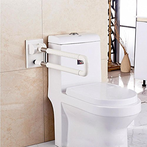 Merveilleux Bathroom Grab Bar Flip Up Toilet Safety Frame Rail Shower Handicap Bars  Medicial Bathroom Aids Armrest (Stainless Steel Covered With ABS) , White  ...