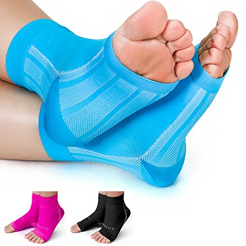 96517d7670 Premium Compression Socks- Highest Medical Grade for Serious Pain Relief- Foot  Sleeves Combine Achilles Tendon Support + Plantar Fasciitis Night Splint +  ...