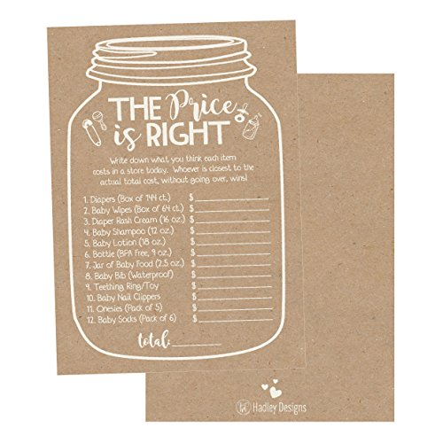 25 Rustic Guess If The Price Is Right Baby Shower Game Ideas For