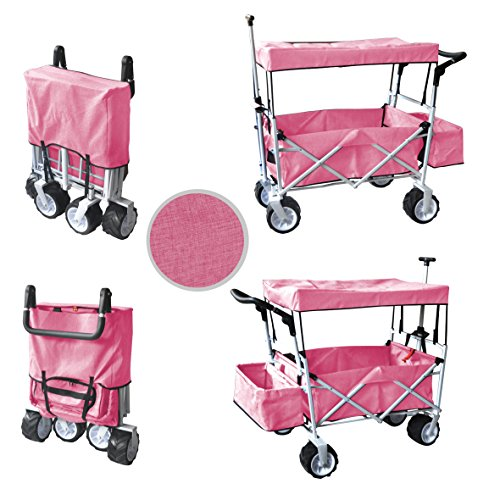 Pinkfree Ice Cooler Push And Pull Handle Folding Baby Stroller Wagon