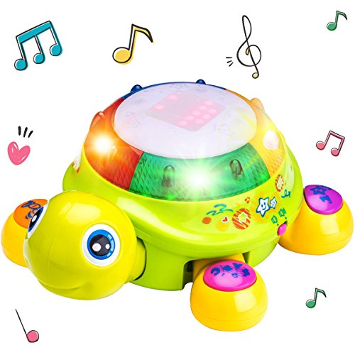 Musical Turtle Toy Electronic Movement Animal Learning Toys Lights
