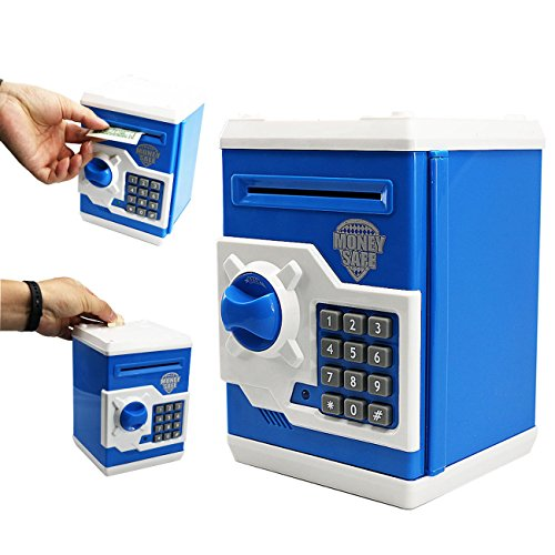 Electronic Password Piggy Bank Money Safe Fun Toy Coin Cash