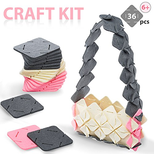 PutPull Arts And Crafts DIY For Girls Teens Children 10 Project Ideas 3d Puzzle Felt Square Building Set Stem Toys Making Kit