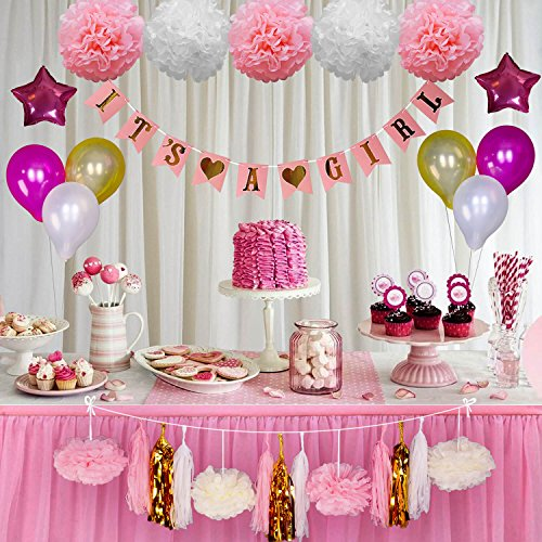 Baby Shower Decorations For Girl Pink And Gold Baby Shower