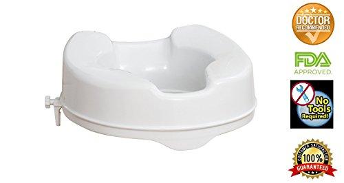 Surprising Raised Toilet Seat By Healthline Elevated Hinged Toilet Uwap Interior Chair Design Uwaporg